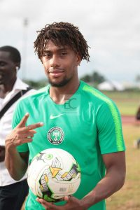 Iwobi in National Jersey After Training