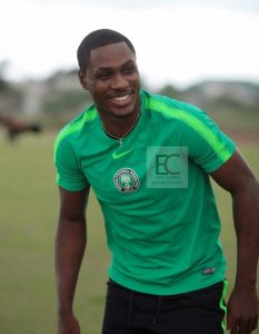 Ighalo Smiling After Training